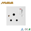 Hot selling 15a socket switch OEM accept different style wall switch socket new design wall switch