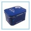 rectangular tin box with sliding lid
