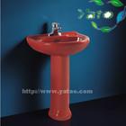 China red color wash basin