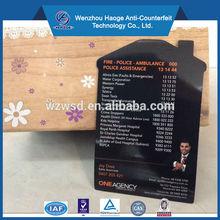 Emergency service advertising fridge magnet, business card fridge magnet