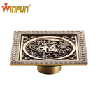 2014 Hot sell 12cm China style Bathroom Brass Floor drain top quality bathroom accessories