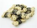 100% naturel et blanc de peau de poisson os biscuit. wraps aliments pour chiens