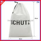 Custom Silk Screen Logo Non Woven Drawstring Pouch Bag For Promotion