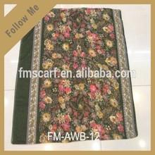 Leopard splice pattern 100% viscose animal print scarf