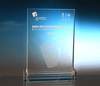 Transparent Rectangle Crystal Award For Business Giveaway Gifts