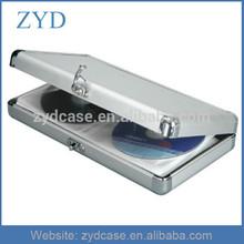 Top Performance Silver Aluminium 40 CD/DVD Storage Wallet Case ZYD-HZMdc004