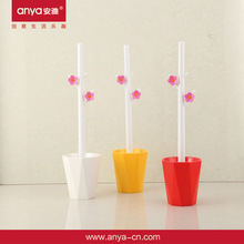 D543 toilet brush toilet brush holder plastic toilet brush with little flowers