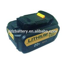 20V 3000mAh Dewalt Power tool Li-ion battery with 119.60x76.12x51.60 mm