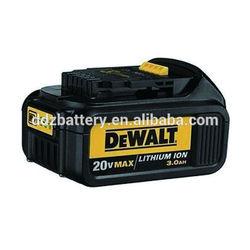 20V Dewalt Power tool Li-ion battery 3000mAh with 119.60x76.12x51.60mm For DeWALT DCB200, DCB201 DCF895C2 DCS380L1 DCG412L2