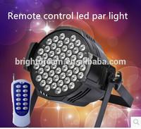 New arrive led stage light 54pcs RGBW 3W Remote control led par 64
