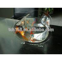 oval shape acrylic fish tank/plexiglass aquarium stand/pmma fish bowl stands