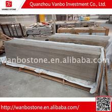 buona qualità grigio scuro di legno mattonelle di pavimentazione lastra di marmo