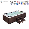 For 7person indoor sexy family whirlpool wooden foot spa tub