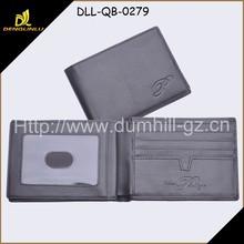 Black leather /PU Men Wallet Inside Removebale Pocket