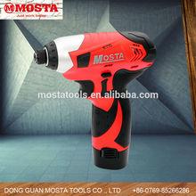 10.8V 6.35mm Mosta Li-Lon Cordless Screwdriver /Mini Electric Hand Screwdriver