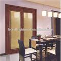Porta de vidro de madeira PVC slides