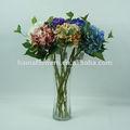 alta qualidade de flores artificiais de seda único hortênsia para decoração de casa