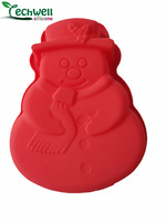 CM-007 Christmas snowman baking mould food grade silicone