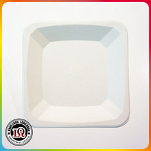 "6"" High Quality Different Size Biodegradable Sugar Cane Eco Bagasse Pulp Square Plate"