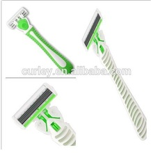 Green and white beautiful disposable six blade shaving razor razors exporter perfect quality with reasonable prices