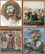 Mosaico professional fábrica e de desenho mosaico, Figura pintura feita por mármore ônix mosaico