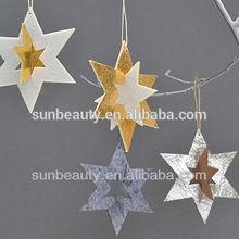 Metallic paper set of star hang star decoration