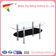 China Wholesale Custom tempered glass s shape coffee table