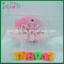 Hot Pink Mini Hen Party Bride to be Tiara with veil