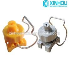 Plastic clip adjustable spray nozzle