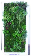 2014 China novo design falso garss parede decorativo verde plantas artificiais de parede