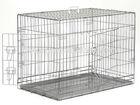 galvanized steel metal foldable transport animal pet cage kennel