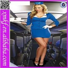 3PCS Hot Sexy Fancy Dress Air Flight Hostess Marine Sexi Attendant Retro Stewardess Costume L1179
