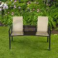 nuevo frabic de mimbre del patio doble amor asiento de las sillas