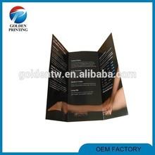 Custom paper printing flat/folded advertising samples leaflet