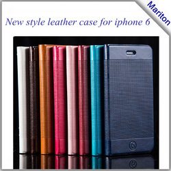 ultrathin flip leather case for iphone 6 , for flip leather case iphone 6 plus