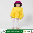 In stock yellow cotton cheap girl new modal pageant dress