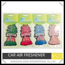 Hawaii tree coconut car paper hanging air freshener