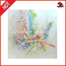 Abstract Elegant flower Palette knife oil painting