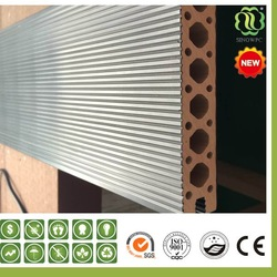 PVC Foaming Co-extrusion Decking floor/UV Resistant Wpc Decking/NEW Co-Extrution Technology