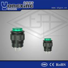 CQC CE IP40 blue latching 16mm illuminated micro momentary push button switch