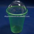 Desechable 12 oz color del animal doméstico vasos de plástico con cúpula tapas