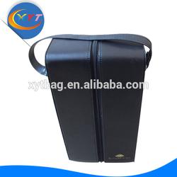 Luxury 2 Bottles Leather Wine Bag Carrier