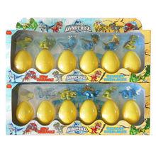 3.5 '' 6 pcs ovo de dinossauro brinquedos / ovo de dinossauro de brinquedo para crianças