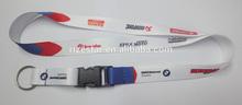 BMW corporation customized printed keychain lanyard