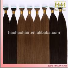 Wholesale Price Unprocess AAAAAA Grade Russian Hair Tape Hair Extensions