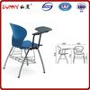 morden school chair with writing pad,plastic chair,school desk chair