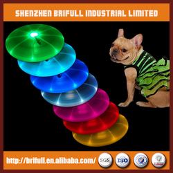 LED frisbee toys for pet dog
