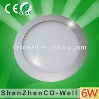 AC85-265V shenzhen new arrival led panel light 6W silver