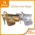 Plata italiana de cristal de zapatos de tacón alto/a largo señoras zapatos de tacón/italiano de las señoras zapatos y bolsos a juego mg004