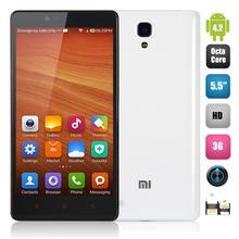 100% Original 5.5Inch HD Screen Xiaomi Redmi Note MTK6592 Octa Core 1.7GHz WCDMA Smart Mobile phone